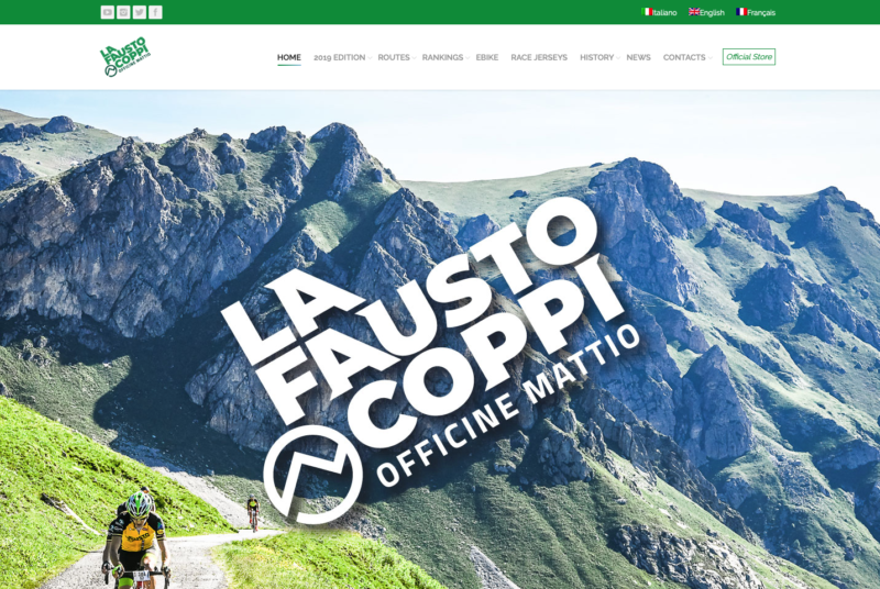 Agenzia di comunicazione, grafica, foto, web e social della Granfondo La Fausto Coppi Officine Mattio